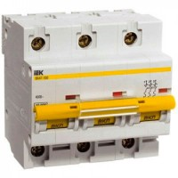 Автоматический выключатель 3P 80А (C) 10кА ВА 47-100 IEK