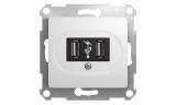Механизм USB розетки 5В 2х700мА Белый