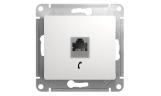 Механизм телефонной розетки RJ11 Белый Glossa