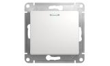 Механизм выключателя 1-клавишного с индикацией Белый Glossa