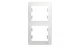 Рамка 2-ая вертикальная Белая Glossa