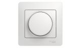 Светорегулятор поворотный нажимного типа 600Вт Белый Glossa