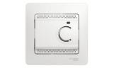 Термостат для теплого пола с датчиком в сборе 10А Белый Glossa