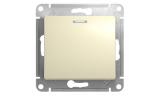 Механизм выключателя 1-клавишного с индикацией Бежевый Glossa