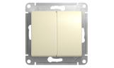 Механизм выключателя 2-клавишного Бежевый Glossa
