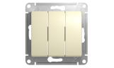 Механизм выключателя 3-клавишного Бежевый Glossa