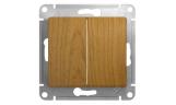 Механизм выключателя 2-клавишного Дуб Glossa