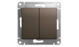 Механизм выключателя 2-клавишного Шоколад Glossa