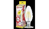 Лампа LED-Свеча-deco 7Вт Е14 3000К 630Лм прозрачная InHome