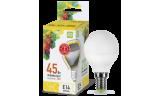 Лампа LED-ШАР 5Вт Е14 3000К 230В 450Лм ASD