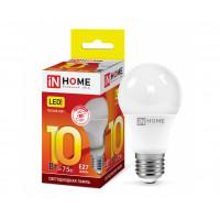 Лампа LED-A60 10Вт 230В Е27 3000К 900Лм InHome