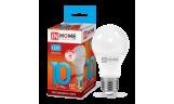Лампа LED-A60 10Вт 230В Е27 4000К 900Лм InHome