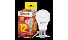 Лампа LED-A60 12Вт 230В Е27 3000К 1080Лм InHome