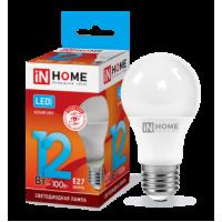 Лампа LED-A60 12Вт 230В Е27 4000К 1080Лм InHome