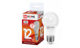 Лампа LED-A60 12Вт 230В Е27 6500К 1080Лм InHome