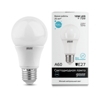 Лампа LED А60 10Вт 230В Е27 4100К 920Лм Gauss