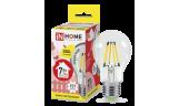 Лампа LED-A60-deco 7Вт Е27 3000К 630Лм прозрачная InHome
