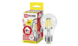Лампа LED-A60-deco 9Вт Е27 3000К 810Лм прозрачная InHome