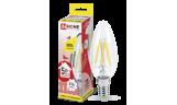 Лампа LED-Свеча-deco 5Вт Е14 3000К 450Лм прозрачная InHome