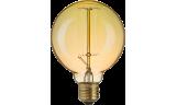 Лампа винтажная G95 60Вт 210Лм Е27 золотистая Navigator