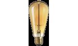 Лампа винтажная ST64 60Вт 210Лм Е27 золотистая Navigator