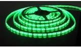 Светодиодная лента открытая 4,8Вт/м 3528 60LED/m IP20 12В (зелёная)