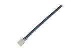 Коннектор для светодиодной ленты 4-х конт. 10мм клипса/провод