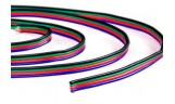 Провод гибкий цветной 4х0,4мм2 для RGB ленты, м