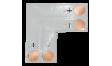 Соединительная плата для светодиодной ленты L 2-х конт. 10мм