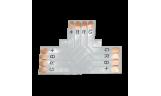 Соединительная плата для светодиодной ленты T 4-х конт. 10мм