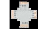 Соединительная плата для светодиодной ленты X 4-х конт. 10мм