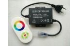 Контроллер для светодиодной ленты RGB 220В 14мм 1500Вт сенсорный радио-пульт