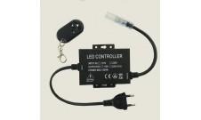 Контроллер для одноцветной светодиодной ленты 220В 14мм 1500Вт радио-пульт