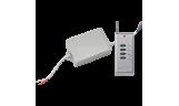 Контроллер для светодиодной RGB ленты 12А 12-24В радио-пульт IP65 влагозащ. Ecola