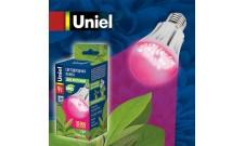 Лампа для растений LED А60 9Вт Е27 прозрачная Uniel