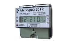 Счетчик 1ф 201.8 5-80А (DIN-рейка) ЖК-дисплей Меркурий