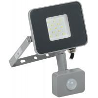 Светодиодный прожектор СДО 07-10Д с датчиком движения IP54 серый IEK
