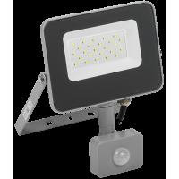 Светодиодный прожектор СДО 07-30Д с датчиком движения IP54 серый IEK