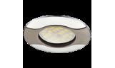 Светильник точечный литой HL029 MR16 GU5.3 чёрный хром/хром