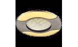 Светильник точечный литой HL029 MR16 GU5.3 чёрный хром/золото