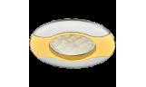 Светильник точечный литой HL029 MR16 GU5.3 золото/хром