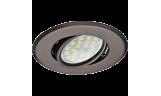 Светильник поворотный DH09 MR16 GU5.3 чёрный хром
