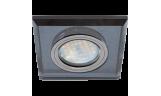 Светильник точечный DL1651 MR16 GU5.3 стекло чёрный/чёрный хром