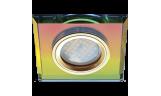 Светильник точечный DL1651 MR16 GU5.3 стекло мультиколор/золото