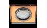 Светильник точечный DL1651 MR16 GU5.3 стекло янтарь/чернёная медь