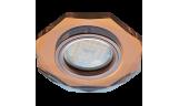 Светильник точечный DL1652 MR16 GU5.3 стекло янтарь/чернёная медь