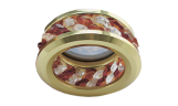 Светильник точечный DL1656 MR16 GU5.3 прозрачный и янтарь/золото